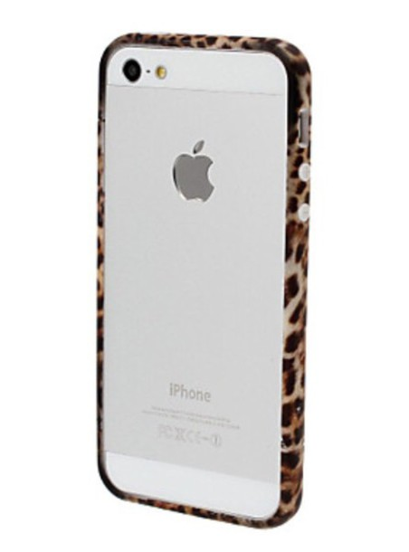 phone cover leopard print leopard print bumper phone cover iphone5s
