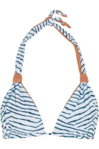 bikini bikini top light blue light blue swimwear
