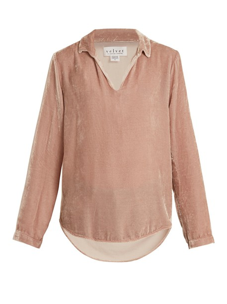 VELVET BY GRAHAM & SPENCER top velvet top velvet light pink light pink