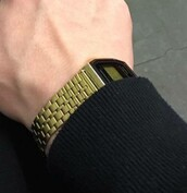 home accessory,casio watch,gold,watch,tumblr