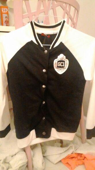 jacket black and white bomber jacket baseball jacket