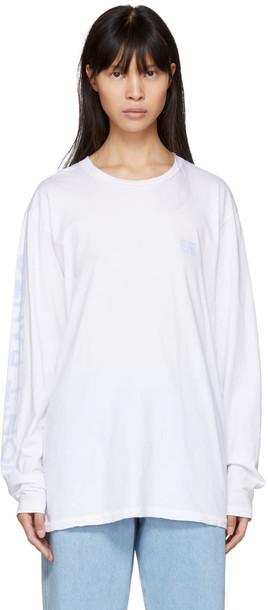 Baja East t-shirt shirt t-shirt white top