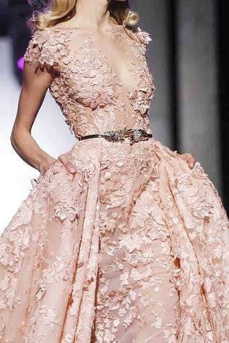 dress flowers pink cute beautiful elegant fashion model