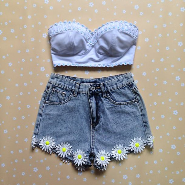 Shorts: summer, dress, blue shirt, denim vintage levis, cut off ...