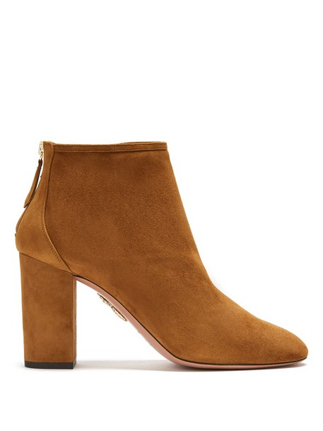 Aquazzura suede ankle boots ankle boots suede tan shoes