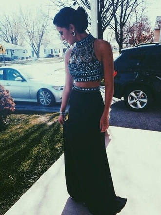 dress boho girly crop tops