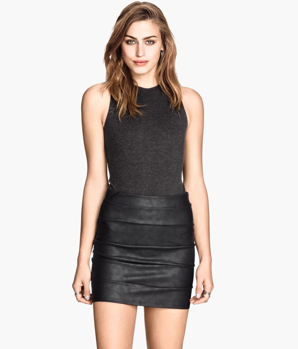 H&M Imitation Leather Skirt $17.95