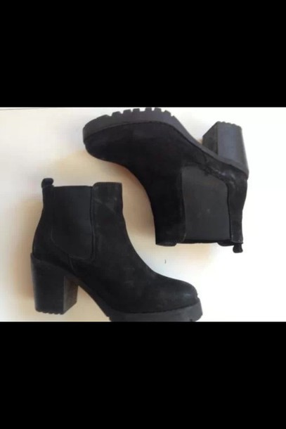 shoes black suede 41 eur