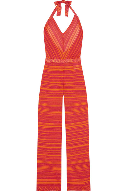 daafb28edc3 Missoni Mare Metallic Crochet-Knit Jumpsuit - Wheretoget