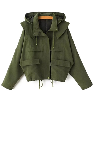 coat jacket green camouflage army green hooded