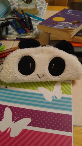 home accessory panda pencil case kawaii accessory