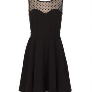 Polka Dot Illusion Dress on Wanelo