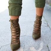 shoes,boots,green shoes,high heels boots,ankle boots