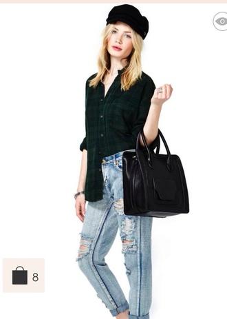 bag black leather tote bag