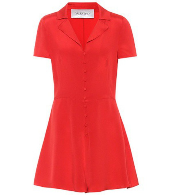 Valentino Silk playsuit in red