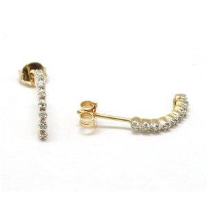 Amazon.com: the olivia collection 9ct yellow gold diamond half hoop earrings: jewelry