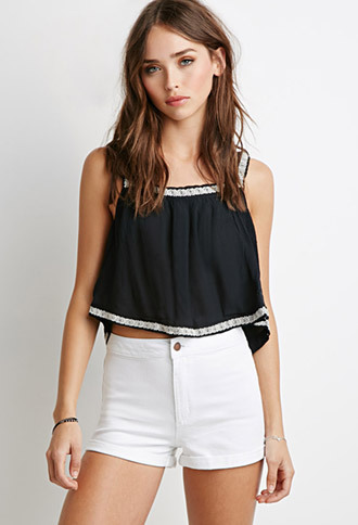 shorts forever 21 denim cuffed high wasted shorts