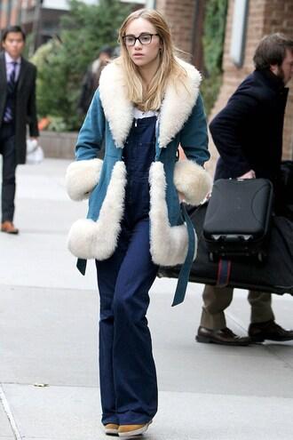 jacket fur coat faux fur suki waterhouse winter outfits streetstyle shearling jacket
