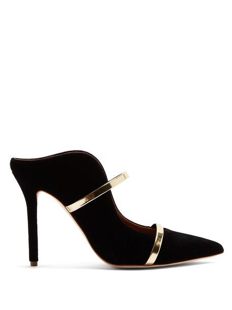 MALONE SOULIERS mules velvet gold black shoes