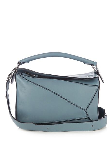 LOEWE cross bag leather light blue light blue