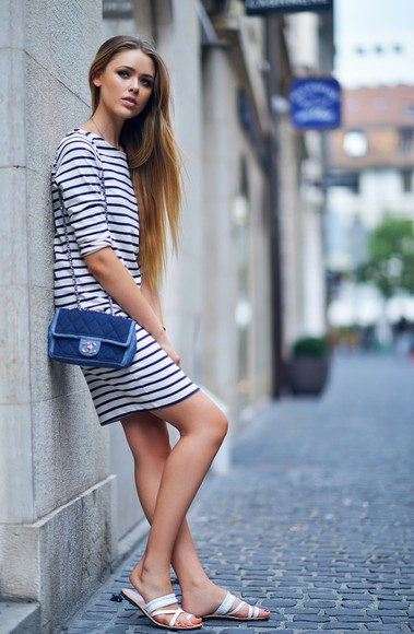 stripes mariniere shoes bag kayture striped dress