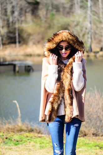 book of leisure blogger shoes sunglasses fur coat
