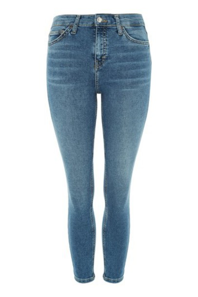 Topshop jeans ripped blue