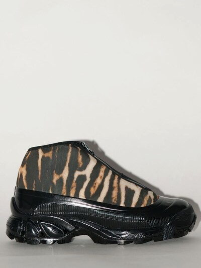 BURBERRY 40mm Leopard Print Nylon Sneakers Leopard/black