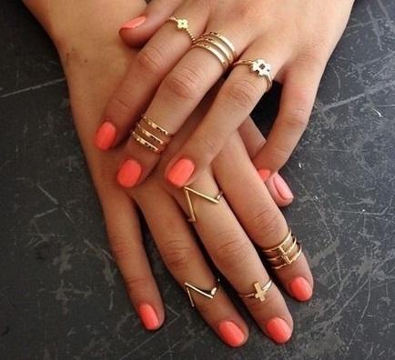 18K gold cross rings 8pcs spike midi ring set fashion for sale