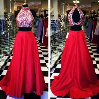 dress prom dress evening dress two-piece