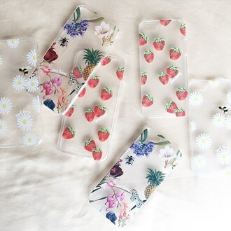 phone cover yeah bunny floral tumblr girly iphone pineapple
