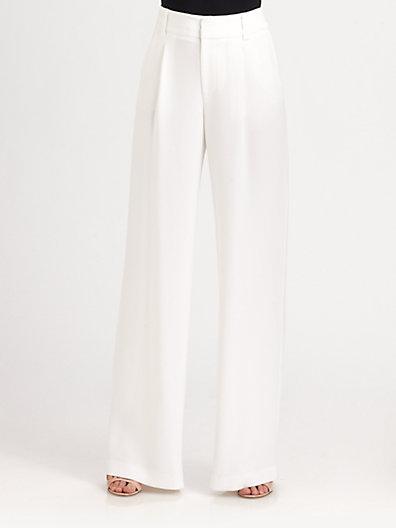 Alice   Olivia - Eric Wide Leg Pants - Saks.com