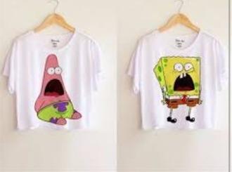 tank top bestfriend matching tank tops t-shirt bff shirts spongebob