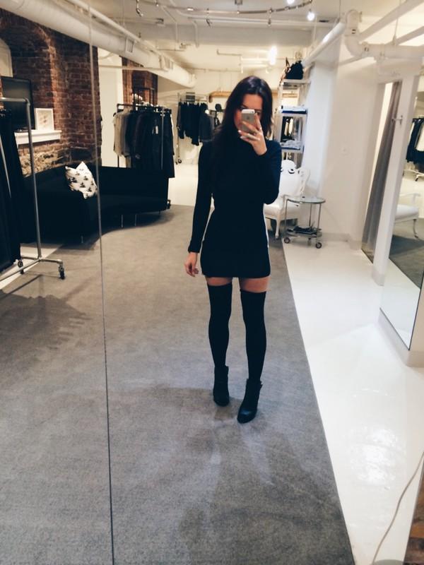 Thigh High Socks - Black