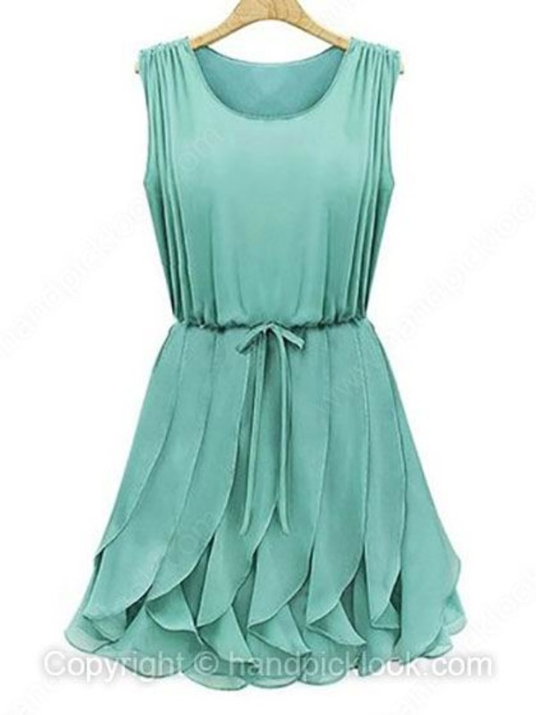 dress blue green dress ruffle dress summer dress ruffle skirt cocktail dress party dress summer skirt turquoise dress
