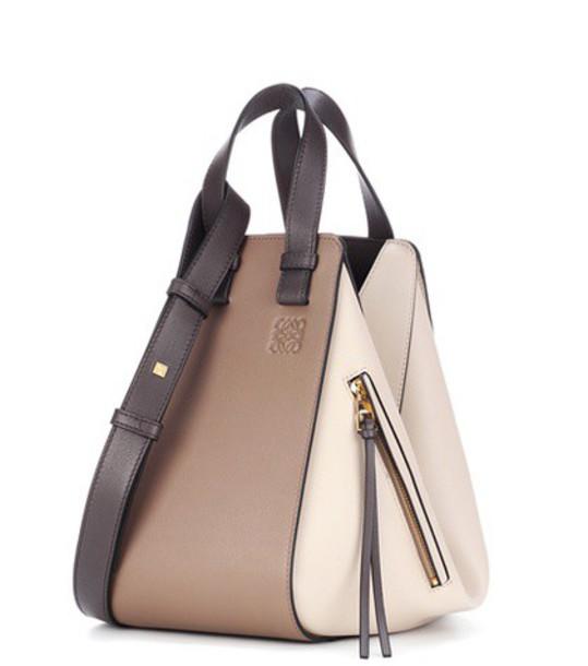 LOEWE leather beige bag
