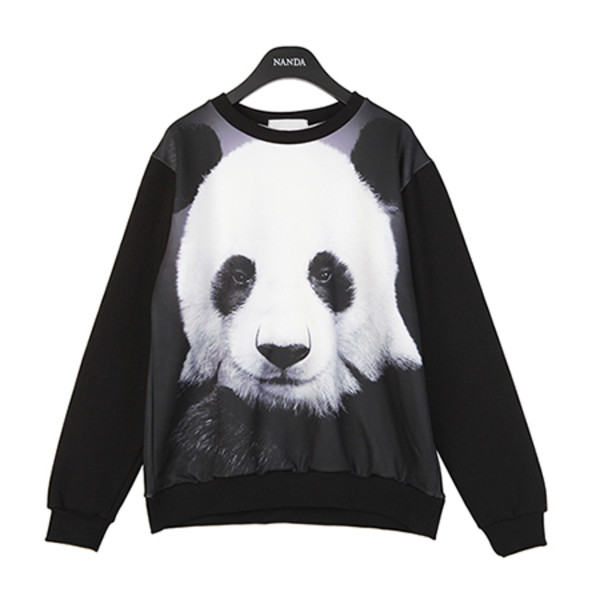 sweater shirt panda black pandas cute chic cool tumblr