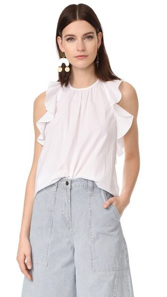 blouse blanc top