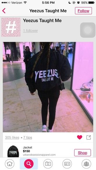 yeezus braid bomber jacket oversized jacket yeezy sportswear urban