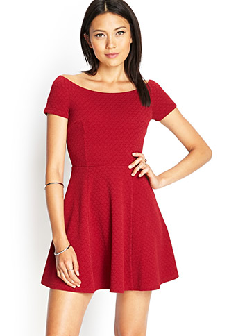 Textured Knit Skater Dress | FOREVER 21 - 2000121889