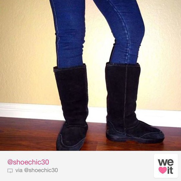 35197dee38f71 shoes boots style sexy love black suede bearpaw winter outfits snow  shoechic30 jeans