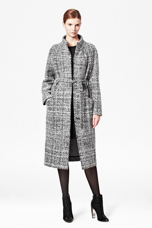 Lana Speckled Belted Coat - Jackets & Coats - French Connection Usa