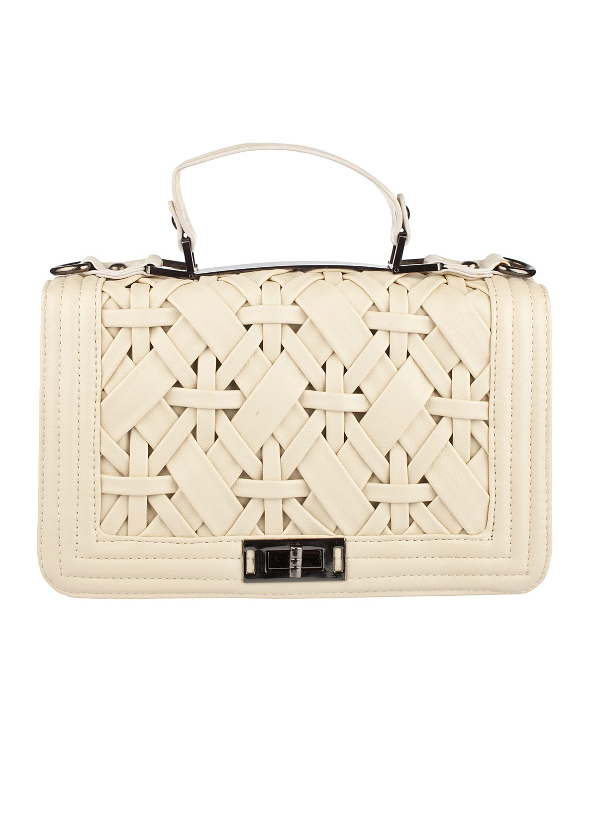 Shop Prima Donna - Whisper Woven Top Handle Bag Bone