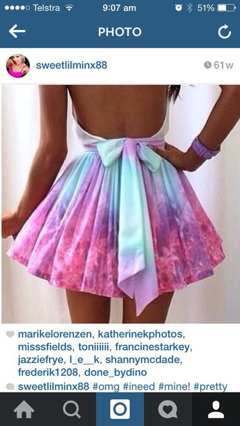 dress tie dye dress back bow tie