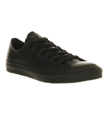 Converse Allstar Low Leather Black Mono Leather - Unisex Sports