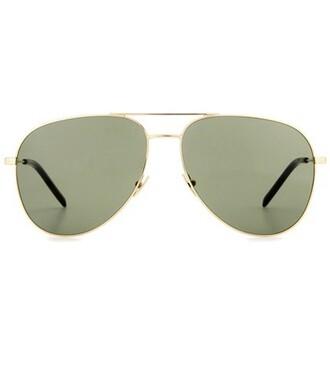classic sunglasses aviator sunglasses green