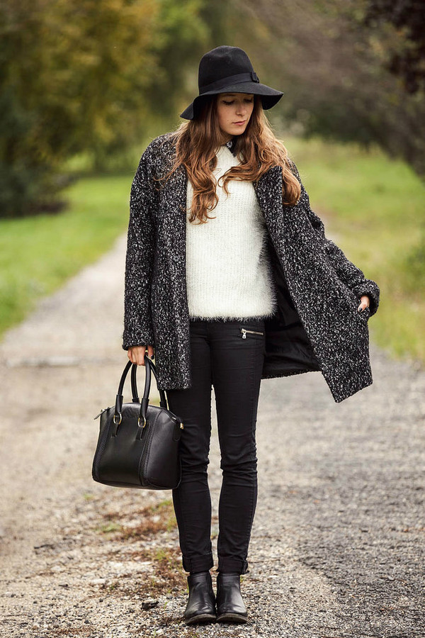 iemmafashion blogger bag felt hat fall outfits