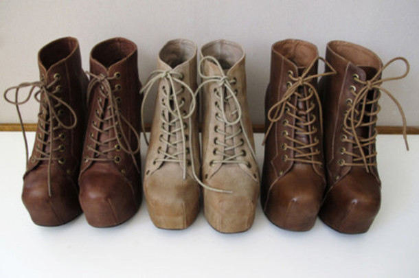 Shoes: combat boots, high heels, holiday season, brown ...