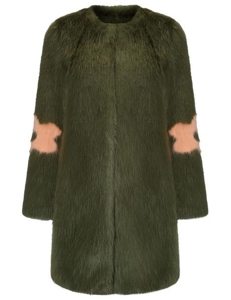 Shrimps coat fur faux fur green