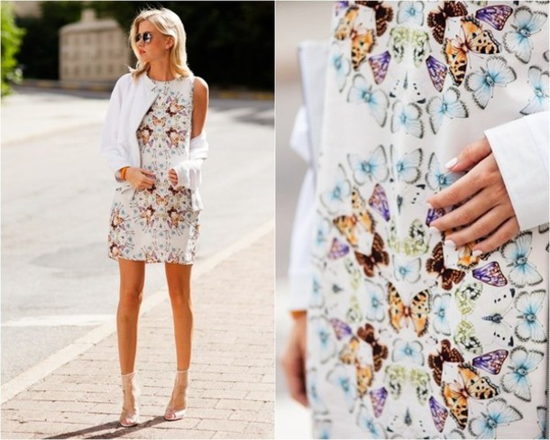 dress butterfly print butterfly mini dress